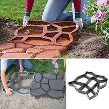 10 Grid DIY Garden Pavement Mold Park Path Walk Maker Reusable Mould