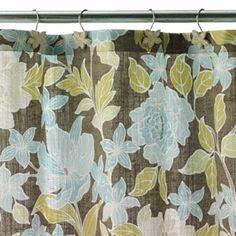 Croft and Barrow Flora Fabric Shower Curtain