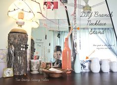 DIY jewelry and earring stands