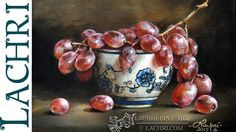 How to glaze - Time Lapse grapes painting Demo by Lachri