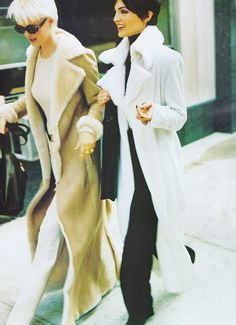 Kylie Bax & Chandra North photographed by Steven Meisel for Vogue, November 1996