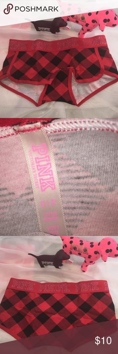 NWT VS PINK Logo BoyShorts Small New with Tags Victoria Secret Pink Logo BoyShorts size Small, fabric is 91% cotton and 9% Elastane, PINK Victoria's Secret Intimates & Sleepwear Panties