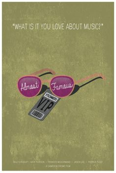 Almost Famous Minimalist Poster by MinimalistPosterShop on Etsy https://www.etsy.com/listing/182387170/almost-famous-minimalist-poster