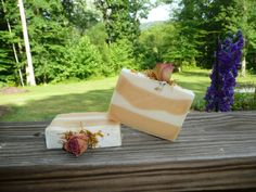 Handmade Southern Peach soap from The Enchanted Bath in Wayne County, West Virginia. #handmade #gift #soap #coldprocess