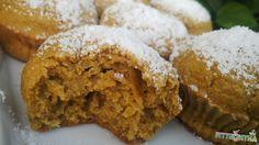 """Sárgarépás muffin zabpehelylisztből, hozzáadott cukor nélkül. Gyors, egyszerű, egészséges finomság. Olyan """"tízórai-uzsonnás dobozba való"""" :) Muffin, Lose Weight, Food And Drink, Healthy Recipes, Healthy Food, Sweets, Vegan, Baking, Breakfast"""