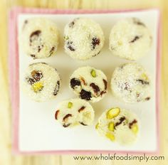 Simple and delicious Cranberry and Pistachio Balls. Free from gluten, grains, dairy, egg and refined sugar. Enjoy.