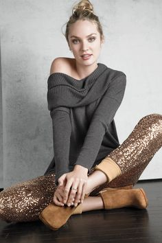 Sparkle Sequin Pants + Comfy Sweater