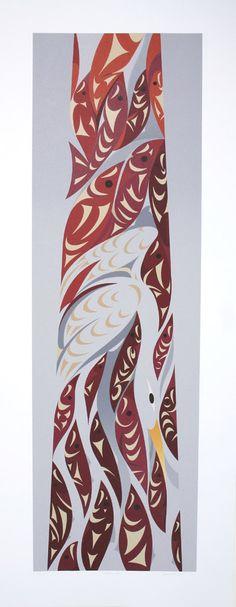 "North Arm Susan Point, 2011 Coast Salish Serigraph, ed. of 100 32"" x 13"" $800.00 CAD"