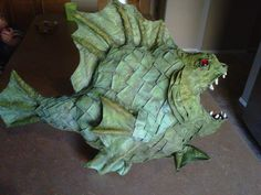 102 Wicked Things To Do - paper mache monster fish halloween projects Holidays Halloween, Halloween Crafts, Holiday Crafts, Holiday Fun, Happy Halloween, Halloween Party, Halloween Decorations, Halloween 2013, Halloween Witches