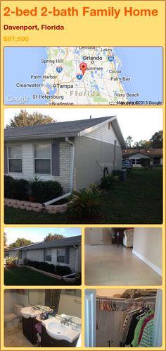 2-bed 2-bath Family Home in Davenport, Florida ►$87,500 #PropertyForSale #RealEstate #Florida http://florida-magic.com/properties/91926-family-home-for-sale-in-davenport-florida-with-2-bedroom-2-bathroom