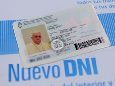 The Pope's new DNI (identity document)