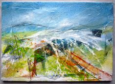 """From the Shropshire sketchbook series by Marie Allen. Mixed media on board 5x7""""."""
