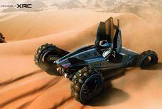 Futuristic Car, Peugeot XRC Concept by Tiago Aiello, Future Car, Dune Buggy, Futuristic Vehicle Futuristic Motorcycle, Futuristic Cars, Dune, Foto Zoom, Psa Peugeot Citroen, Reverse Trike, Sand Rail, Buggy, Sweet Cars