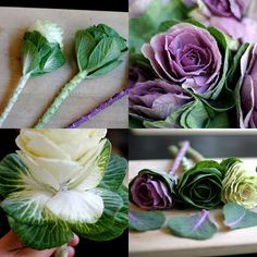 I had cabbage flowers in my bouquet (with mango and eggplant cala lillies), they are fabulous!!