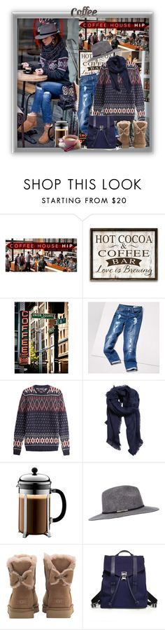 """Do you want a coffee?"" by barbara-gennari ❤ liked on Polyvore featuring Tommy Hilfiger, Woolrich, MANGO, Bodum, Miss Selfridge, CO, UGG, Proenza Schouler and Rustic Arrow"