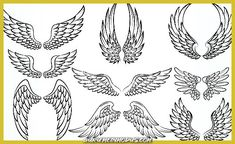 Vector illustration of Cartoon wings collection set Wing Tattoo – Fashion Tattoos Body Art Tattoos, Small Tattoos, Sleeve Tattoos, Tattoos For Guys, Wing Neck Tattoo, Chest Tattoo, Colombe Tattoo, Cartoon Wings, Eagle Wing Tattoos
