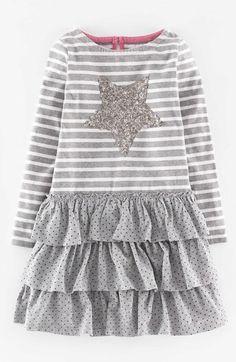 Mini Boden Long Sleeve Ruffle Dress (Toddler Girls, Little Girls & Big Girls) available at #Nordstrom