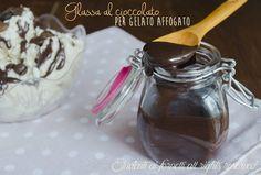 glassa al cioccolato o topping per gelato affogato veloce e golosa senza burro come fare gelato affogato