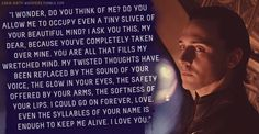 """Loki's Dirty Whispers - Submission: """"I wonder, do you think of me? Do you allow me to occupy even a tiny sliver of your beautiful mind?"""""""