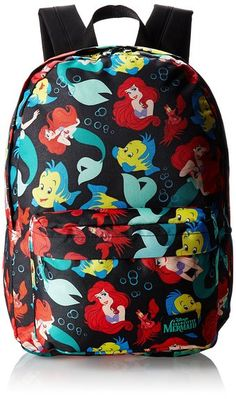 Amazon.com: Disney Little Mermaid All Over Print Backpack