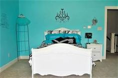 tiffany blue and black teen room home likes decorating ideas