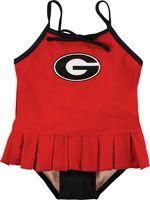 Georgia Bulldogs Infant/Toddler Cheerleader in Training Swimsuit