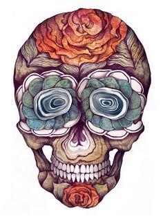 mmmm skull drawings