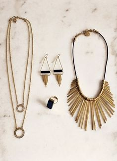 Statement brass & horn jewelry style by Made UK. Hand-crafted by artisans in Kenya.