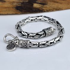 Real Pure 925 Sterling Silver Bracelet Men Peace Lines Corsair Jewelleries Best Gifts Vintage Punk Thai Silver Armband Man