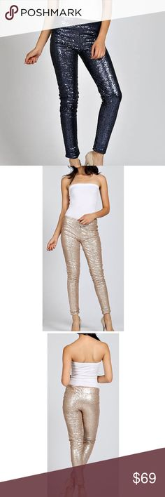The Brooklyn Sequin Leggings NWT I have them in black and in gold. Comes in plastic bag from manufacturer. Pants