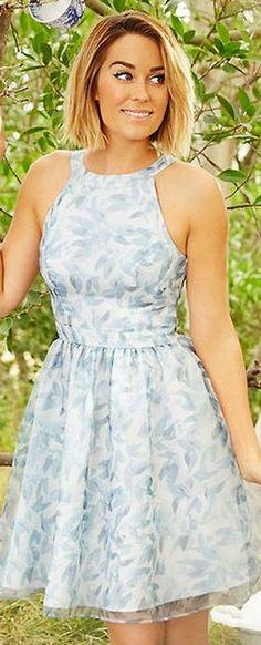 Lauren Conrad's blue print dress