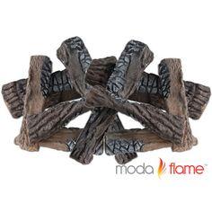 Moda Flame 8 Piece Ceramic Fireplace Wood Log Set & Reviews   Wayfair