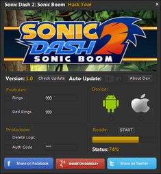 Sonic Dash 2 Sonic Boom Hack Cheats http://modhacks.com/sonic-dash-2-sonic-boom-hack-cheats/