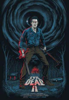 Horror Movie Poster Art : Evil Dead by Gary Pullin Horror Icons, Horror Movie Posters, Horror Movies, Slasher Movies, Fan Poster, Movie Poster Art, Bruce Campbell Evil Dead, Evil Dead Series, Ash Evil Dead