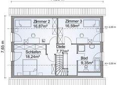 Klassisches Satteldach Haus SH 142 - ScanHaus Marlow | HausbauDirekt Bungalow, Haus Am Hang, Planer, Marlow, House Plans, Floor Plans, How To Plan, Home Decor, Architecture