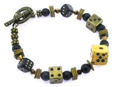 """#beads Create your own """"Lady Luck"""" bracelet with our kit which includes all beads, findings and components, plus detailed instructions with photos and diagrams. Your kit will arrive nicely packaged so it can be given as a gift! This is a beginner level project. Get yours here: www.happymangobeads.com #beadkit"""