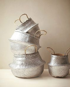 spray painting baskets