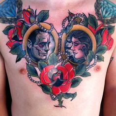 Nice Lovers Chest Piece by Justin Hartman