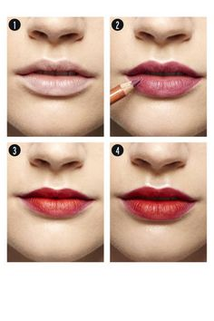 How-To Create the Perfect Red Lip - Fall 2012 Beauty Trends - ELLE