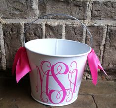 Personalized  Bucket 5 QT by MaryLucasGifts on Etsy, $22.00