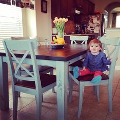 Ikea table hack with Annie Sloan chalk paint