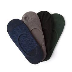 No Show Socks, 4-Pack