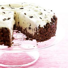 Peppermint ice cream, Desserts and Trifles on Pinterest
