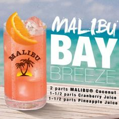 Rum drinks and cocktails - turn your preferred cocktails with the use of Malibu rum foods for cool and enjoyable cocktails. Malibu Cocktails, Cocktail Drinks, Cocktail Recipes, Drinks With Malibu Rum, Beach Drinks, Party Drinks, Summer Drinks, Pool Drinks, Liquor Drinks