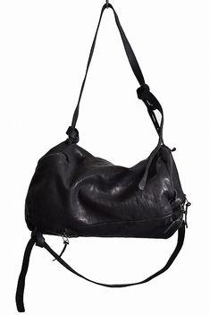 luca bianchini  Italian Calf Leather Oxidized Silver Parts Boston & Backpack 2WAY BAG