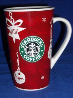 Starbucks Holiday 2009 Mug Coffee Tea Cup Wish Hope Love Peace Bright xlnt cond. #Starbucks