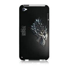 I want this!! Game of Thrones House Stark Hard Case Cover Skin for Ipod Touch 4 4th Generation