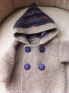 Seed Stitch Baby Jacket pattern by Elinor Brown~~free pattern