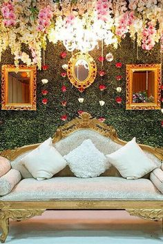 Asian & Nigerian wedding stage, backdrop, flowers, details and props by Events. Wedding Backdrop Design, Wedding Stage Design, Wedding Stage Decorations, Table Decorations, Wedding Mandap, Wedding Receptions, Wedding Table, Rustic Wedding, Wedding Ceremony