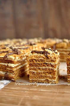 Marlenka / Honey Cake Polish Desserts, Polish Recipes, No Bake Desserts, Hungarian Recipes, Russian Recipes, Baking Recipes, Cake Recipes, Dessert Recipes, Russian Cakes
